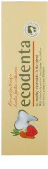 Ecodenta Kids дитяча зубна паста з ароматом суниці та екстрактом моркви