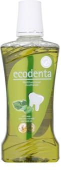 Ecodenta Sage & Aloe Vera & Mint Oil ústna voda pre svieži dych a ochranu ďasien