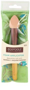 EcoTools Face Tools aplicator spumă asupra machiajului