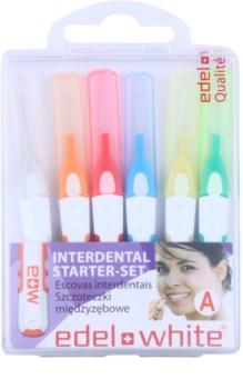 Edel+White Interdental Brushes szczoteczki międzyzębowe 6 szt. mix
