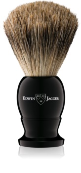 Edwin Jagger Silver Tip Ebony čopič za britje