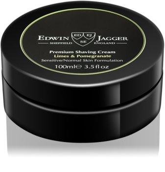 Edwin Jagger Limes & Pomegranate krema za britje za mešano kožo