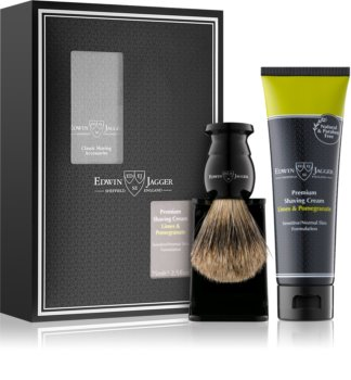 Edwin Jagger Limes & Pomegranate Shaving Kit I. (for Sensitive Skin)