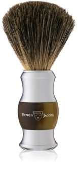 Edwin Jagger Best Badger Light Horn & Chrome Scheerkwast