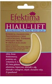 Efektima Institut Hialu-Lift mascarilla de hidrogel para contorno de ojos antiarrugas y antiojeras
