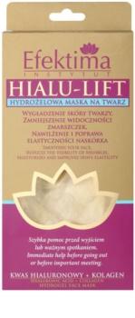Efektima Institut Hialu-Lift Hydro-Gel Maske zum Glätten der Haut und zur sichtbaren Verkleinerung von Falten