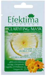 Efektima Institut máscara de limpeza para reduzir o sebo cutâneo e minimizar os poros