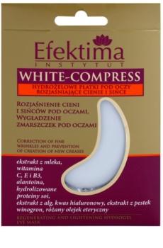 Efektima Institut White-Compress maska hydrożel wokół oczu przeciw zmarszczkom i cienom pod oczami