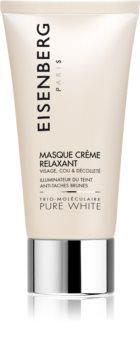 Eisenberg Pure White vlažilna in posvetlitvena maska proti pigmentnim madežem