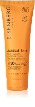 Eisenberg Sublime Tan krema za sončenje za telo proti gubam SPF 30