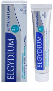 Elgydium Brilliance & Care bělicí pasta proti skvrnám na zubní sklovině