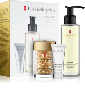Elizabeth Arden Ceramide Replenshing Cleansing Oil kozmetická sada I. (proti vráskam) pre ženy