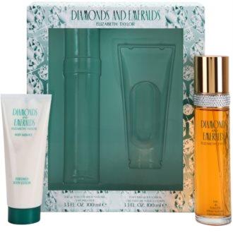 Elizabeth Taylor Diamonds and Emeralds set cadou I.