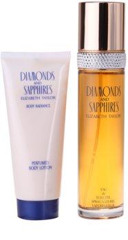 Elizabeth Taylor Diamonds and Saphire darilni set I.