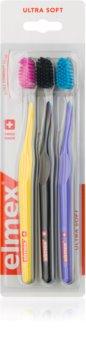Elmex Swiss Made zubní kartáčky 3 ks ultra soft
