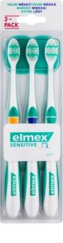 Elmex Sensitive brosses à dents extra soft 3 pcs