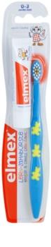 Elmex Caries Protection cepillo de dientes para niños suave + mini pasta de dientes