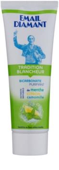 Email Diamant Tradition Blancheur dentífrico branqueador com extratos naturais