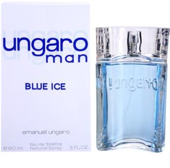 Emanuel Ungaro Man Blue Ice Eau de Toilette for Men 90 ml