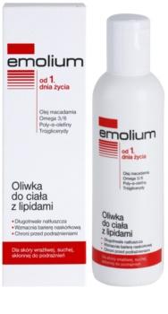 Emolium Body Care olaj a testre lipidekkel száraz és érzékeny bőrre