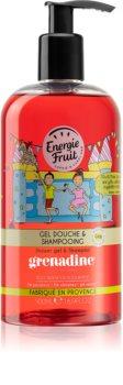 Energie Fruit Grenadine Shower Gel And Shampoo 2 In 1