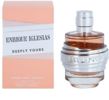 Enrique Iglesias Deeply Yours eau de toilette pour femme 90 ml