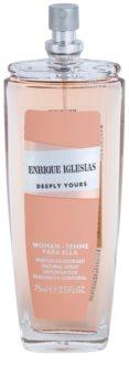Enrique Iglesias Deeply Yours deodorant s rozprašovačem pro ženy 75 ml