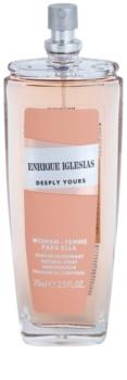Enrique Iglesias Deeply Yours deodorante con diffusore per donna 75 ml
