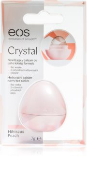 EOS Crystal Hibiscus Peach hydratačný balzam na pery