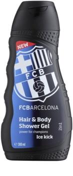 EP Line FC Barcelona Ice Kick šampon in gel za prhanje 2v1