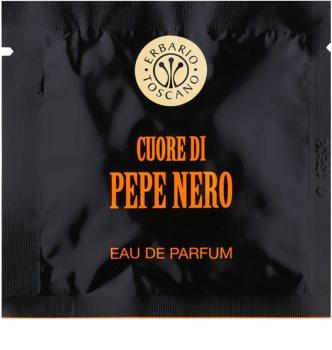 Erbario Toscano Black Pepper lingettes parfumées pour homme 7 pcs