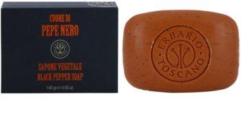 Erbario Toscano Black Pepper tuhé mydlo s hydratačným účinkom