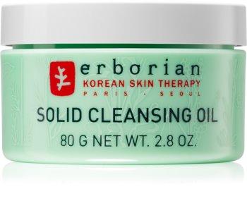 Erborian 7 Herbs Solid Cleansing Oil loção facial de limpeza 2 em 1