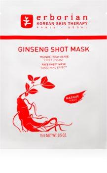 Erborian Ginseng Shot Mask plátenná maska s vyhladzujúcim efektom