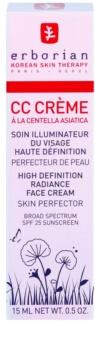 Erborian CC Cream Centella Asiatica озаряващ крем за уеднаквен тен на кожата на лицето SPF 25 малка опаковка