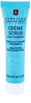 Erborian Detox 7 Herbs delikatny krem peelingujący do odnowy powierzchni skóry