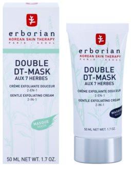 Erborian Detox Double DT-Mask 7 Herbs jemný exfoliační krém 2 v 1