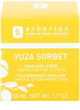 Erborian Yuza Sorbet ľahká emulzia s ochranným účinkom proti pôsobeniu vonkajších vplyvov