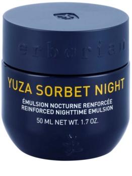 Erborian Yuza Sorbet lahka nočna emulzija za učvrstitev obraza