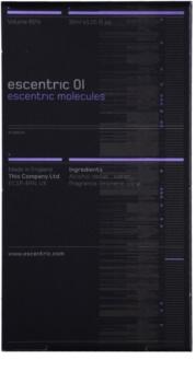 Escentric Molecules Escentric 01 toaletna voda uniseks 30 ml polnilo z razpršilnikom