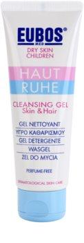 Eubos Children Calm Skin gel de limpeza suave com aloe vera