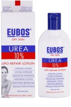 Eubos Dry Skin Urea 10% lotiune de corp hranitoare pentru piele uscata, actionand impotriva senzatiei de mancarime