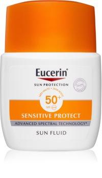 Eucerin Sun Sensitive Protect fluid protector mat pentru fata SPF 50+