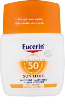 Eucerin Sun Sensitive Protect ochronny fluid matujący do twarzy SPF 50+