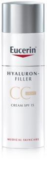 Eucerin Hyaluron-Filler CC krema proti globokim gubam SPF 15