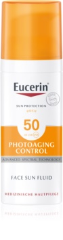 Eucerin Sun Photoaging Control захисна емульсія для обличчя від зморшок SPF 50