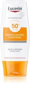 Eucerin Sun Photoaging Control extra ľahké mlieko na opaľovanie SPF 50+