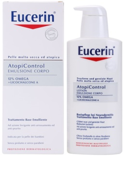 Eucerin AtopiControl 12% Omega + Licochalcone A Body Milk For Dry And Itchy Skin