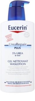 Eucerin Dry Skin Urea gel de duche renovador de barreira cutâneo
