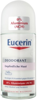 Eucerin Deo dezodorant roll-on brez vsebnosti aluminija za občutljivo kožo